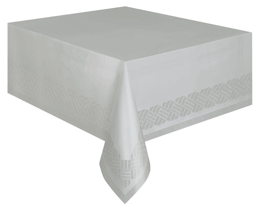 Silver Paper Tablecloth -