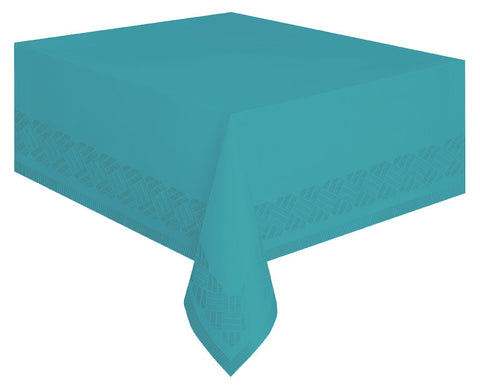 Teal Paper Tablecloth -  - 1