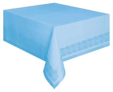 Sky Blue Paper Tablecloth -