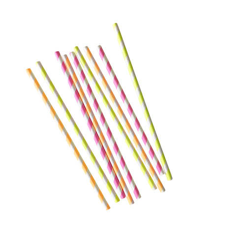Neon Party Straw
