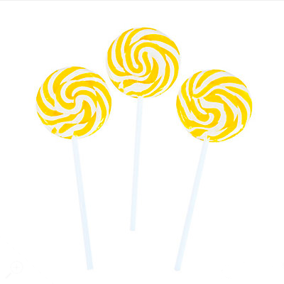Lemon Swirl Lollipop- 12pc