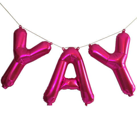 """YAY"" Hot Pink Balloons"