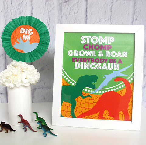 Dinosaur Party Printable