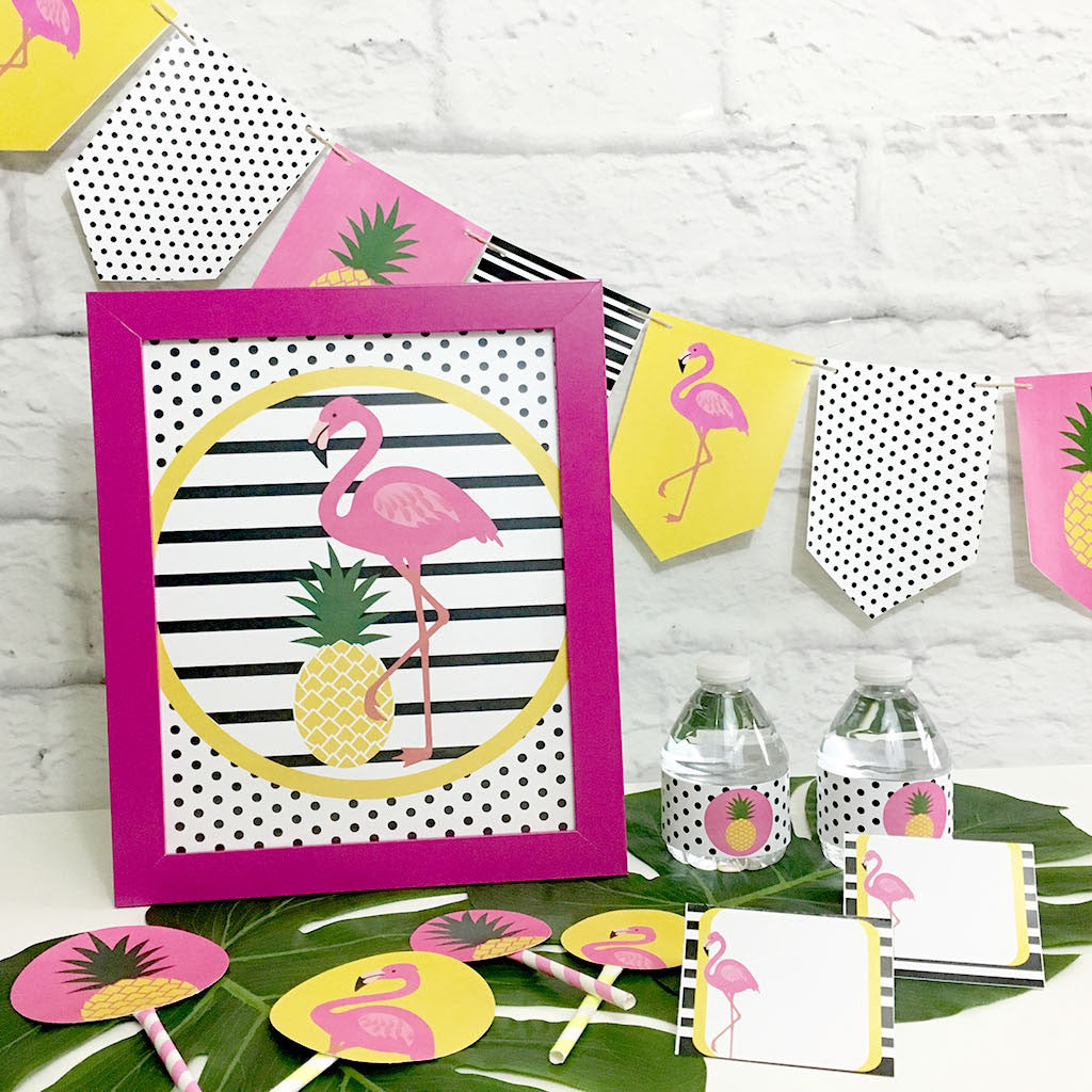 Flamingle Party Printable