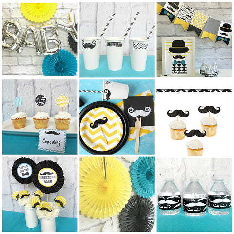 Mustache Bash Shower Pack
