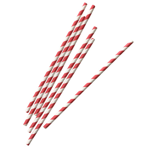 Paper Straws- Red Stripe