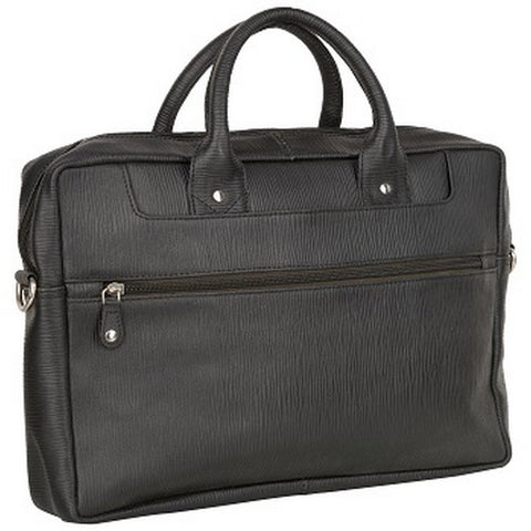 Black Color Leather Men Laptop Bag - 00011A