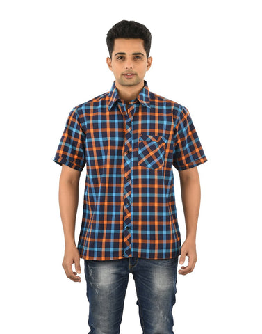 Multi Color Cotton Men's Checkered Shirt - 02SHIRT