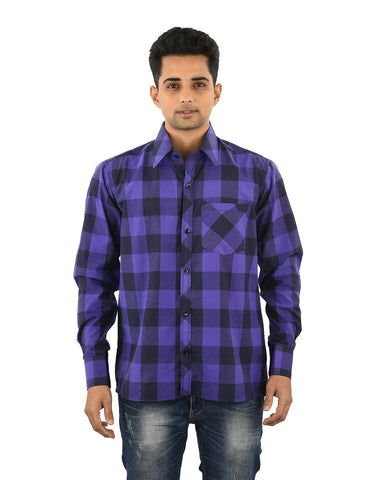 Multi Color Cotton Men's Checkered Shirt - 03SHIRT