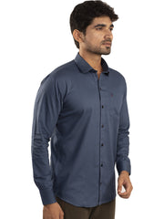 Navy Blue Color Plain Casual Shirt - NB-1ABF