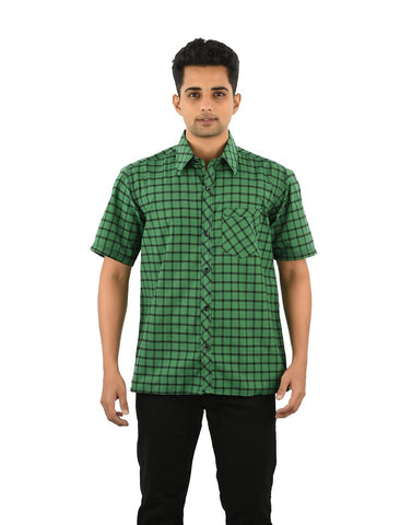 Multi Color Cotton Men's Checkered Shirt - 05SHIRT