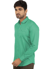 Parrot Green Color Plain Casual Shirt - PG-1ABF