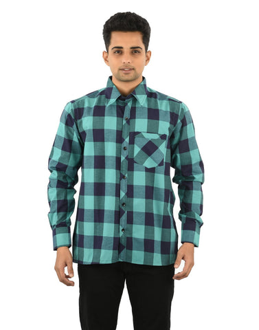 Multi Color Cotton Men's Checkered Shirt - 06SHIRT