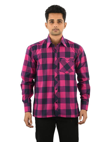 Multi Color Cotton Men's Checkered Shirt - 07SHIRT