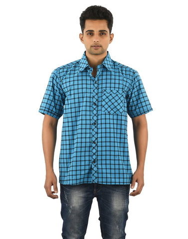 Multi Color Cotton Men's Checkered Shirt - 08SHIRT