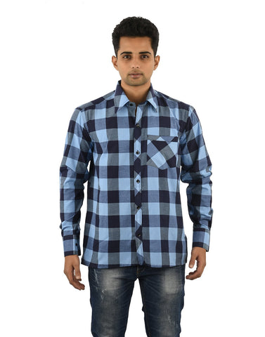 Multi Color Cotton Men's Checkered Shirt - 09SHIRT