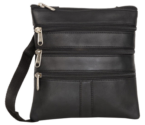 Black Color Leather Women Cross Body Bag - 10002BLACK