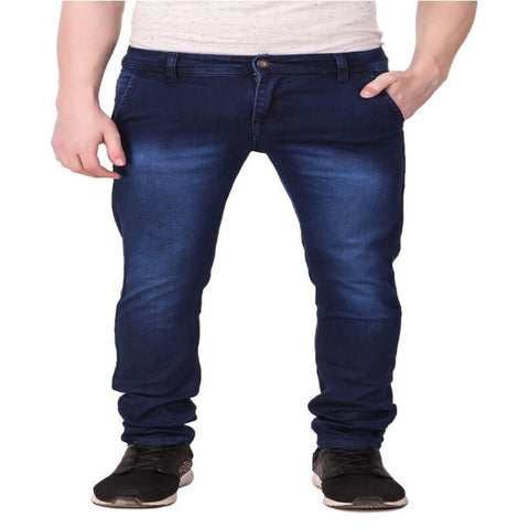 Blue Color Cotton Blend Men's Jeans  - 10056