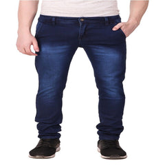Buy Blue Color Cotton Blend Men's Jeans