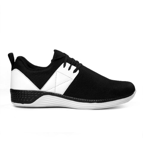 BROOKE Black Color Synthetic Men Sports Shoes - 101-BLK-WHITE