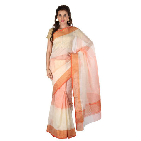 Cream Color Banarasi Silk Saree - 1022-B