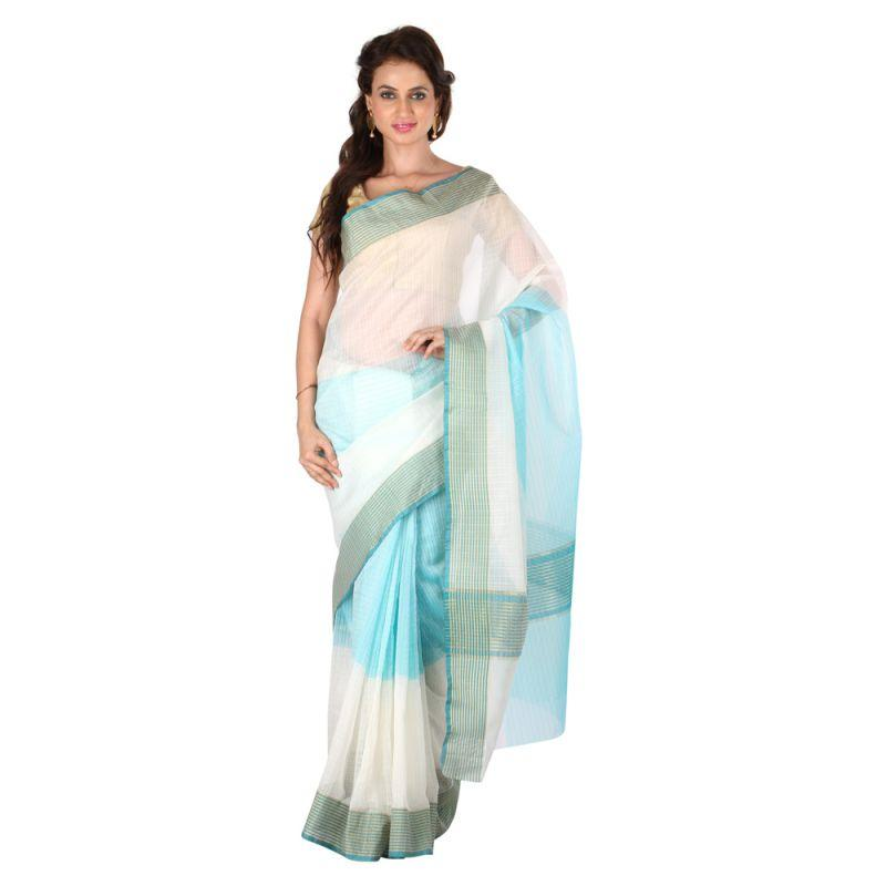 Blue Color Banarasi Silk Saree