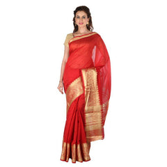 Red Color Banarasi Silk Saree