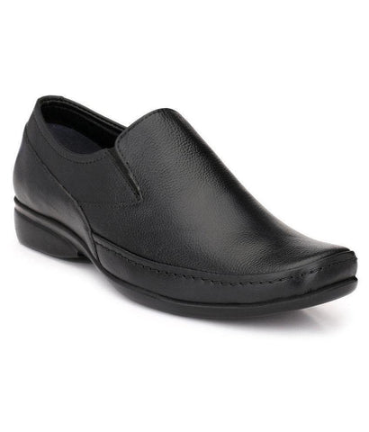 Black Color Leather Men's Formal Shoes - 102_BLACK