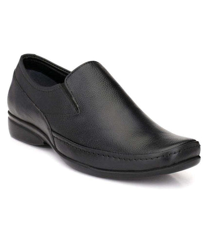 Black Color Leather Men's Formal Shoes - 103_BLACK