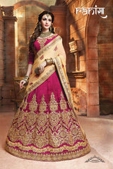 Rani Color Silk Unstitched Lehenga