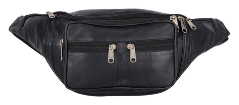 Black Color Leather Unisex Travel Bag - 105BLK
