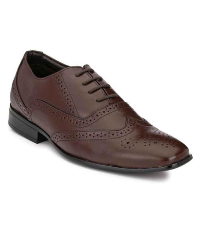 Brown Color Leather Men's Formal Shoes - 108_BROWN