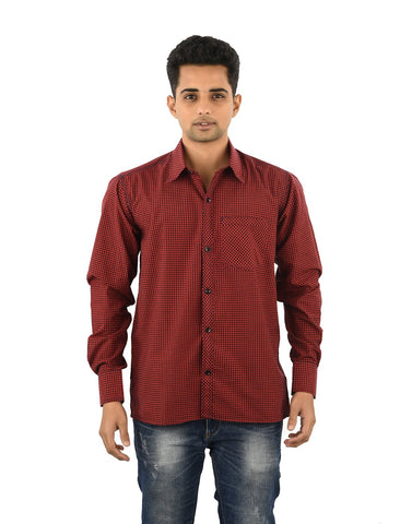 Multi Color Cotton Men's Checkered Shirt - 10SHIRT