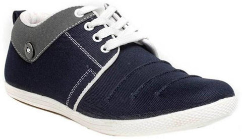 Blue Color Canvas Shoes - 111-BOTTON
