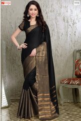 Multi Color Satin and Georgette Saree