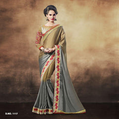 Multi Color Satin Saree