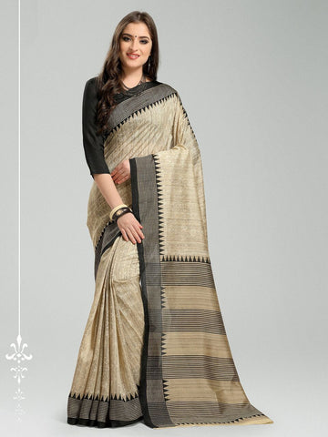 Beige Color Bhagalpuri Silk Saree - 11WOM11912