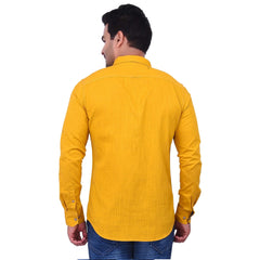 Yellow Color Premium  Cotton Men'S Shirt-  1ABF-Y