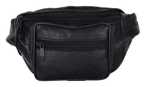 Black Color Leather Unisex Travel Bag - 1207BLK