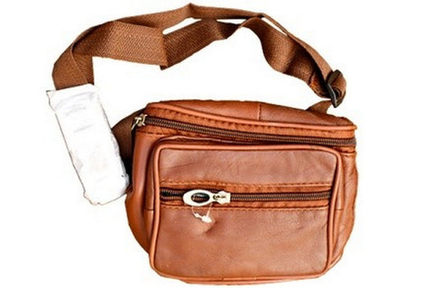 Tan Brown  Color Leather Unisex Travel Bag - 1207BRN
