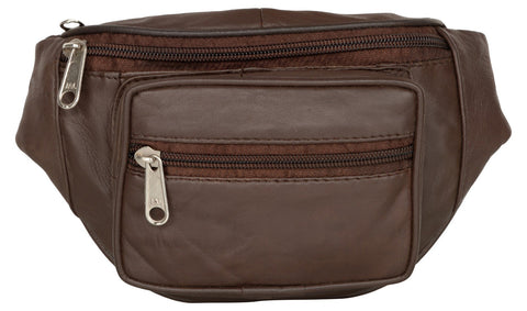 Brown Color Leather Unisex Travel Bag - 1207BROWN