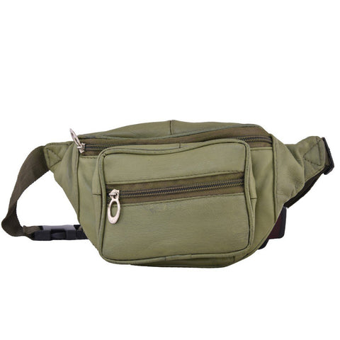 Ollive Green Color Leather Unisex Travel Bag - 1207OLIVE