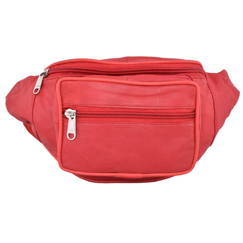 Red Color Leather Unisex Travel Bag - 1207RED