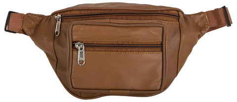 Tan Brown Color Leather Unisex Travel Bag - 1207TAN