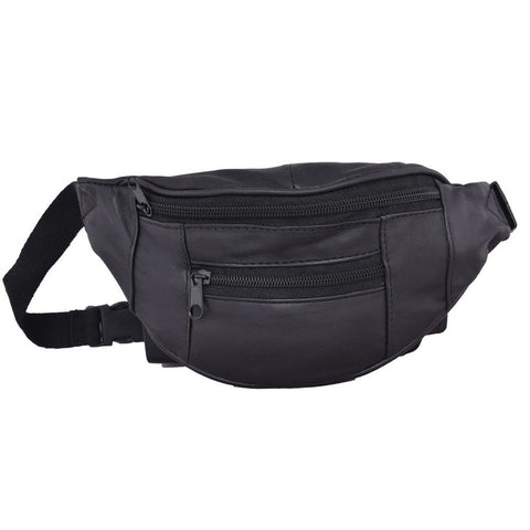 Black Color Leather Unisex Travel Bag - 1209BLACK