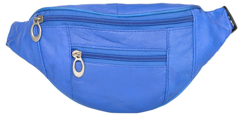 Blue Color Leather Unisex Travel Bag - 1209BLUE