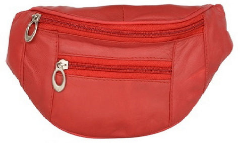 Red Color Leather Unisex Travel Bag - 1209RED