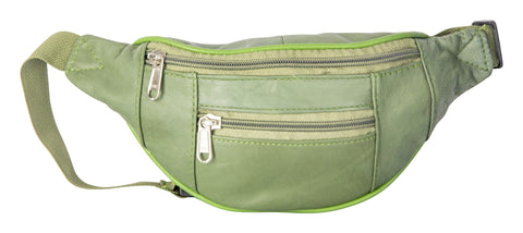 Olive Green Color Leather Unisex Travel Bag - 1209SOLIVE