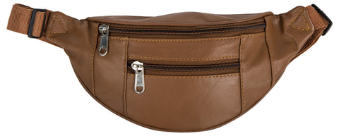 Tan Brown  Color Leather Unisex Travel Bag - 1209TAN