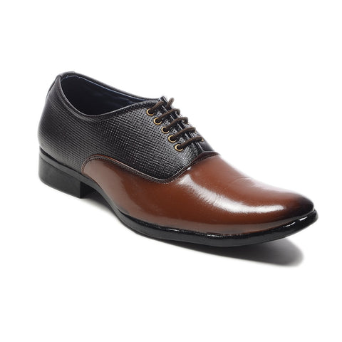 Brown and Tan Color Synthetic Leather Formal Shoe - 1235Formal